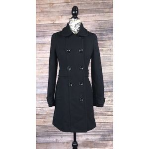H&M pea coat size 6 knee length cool blend trench